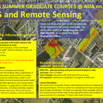 2015 Summer Graduate Courses at AUA on GIS and Remote Sensing