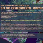2016 Summer Graduate Course at AUA: GIS and Environmental Analysis