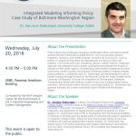 Policy Informed by Integrated Modeling: Case Study of Baltimore-Washington Region