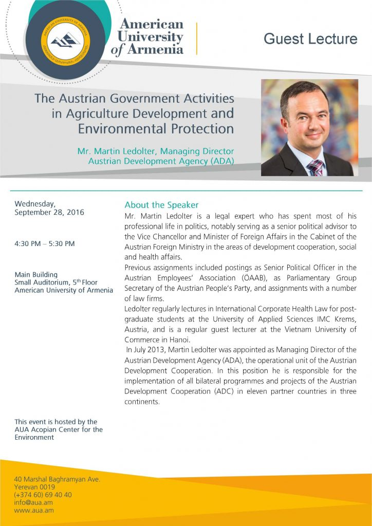 ADA talk at AUA, Sept 28