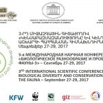 Third International Scientific Conference on Biological Diversity and Conservation Problems of the Fauna