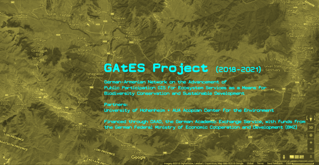 GAtES – German-Armenian Network on the Advancement of Public Participation GIS for Ecosystem Services as a Means for Biodiversity Conservation and Sustainable Development